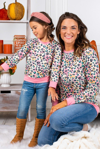 Mommy and Me Pastel Leopard Top TZ25538-10
