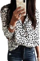 Leopard Print Turn-Down Collar Long Sleeve Blouse LC2551763-1