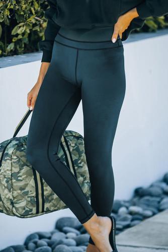 Black High Waist Skinny Butt Lifting Leggings LC263956-2