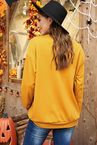 Ghosts Halloween Print Drop Shoulder Sweatshirt LC2539638-14