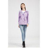 Light Purple Hooded Detachable Windproof Plus Size Windbreaker TQK280123-38