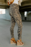 Leopard High Waist Ripped Skinny Jeans LC782483-20