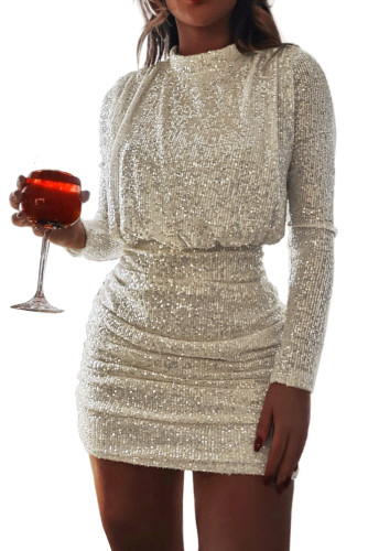 Sequin Ruched Party Bodycon Mini Dress LC229348-18