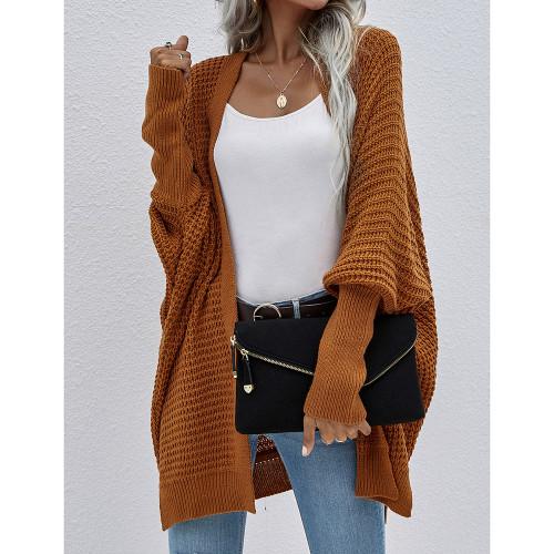 Caramel Drop Shoulder Oversized Long Cardigan TQK271344-56