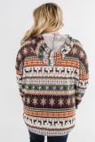 Plus Size Reindeer Print Hoodie LC2538271-17