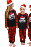 Christmas Letter Plaid Print Kids Loungewear TZ62067-3