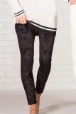 Black Velvet High Rise Leggings LC76443-2