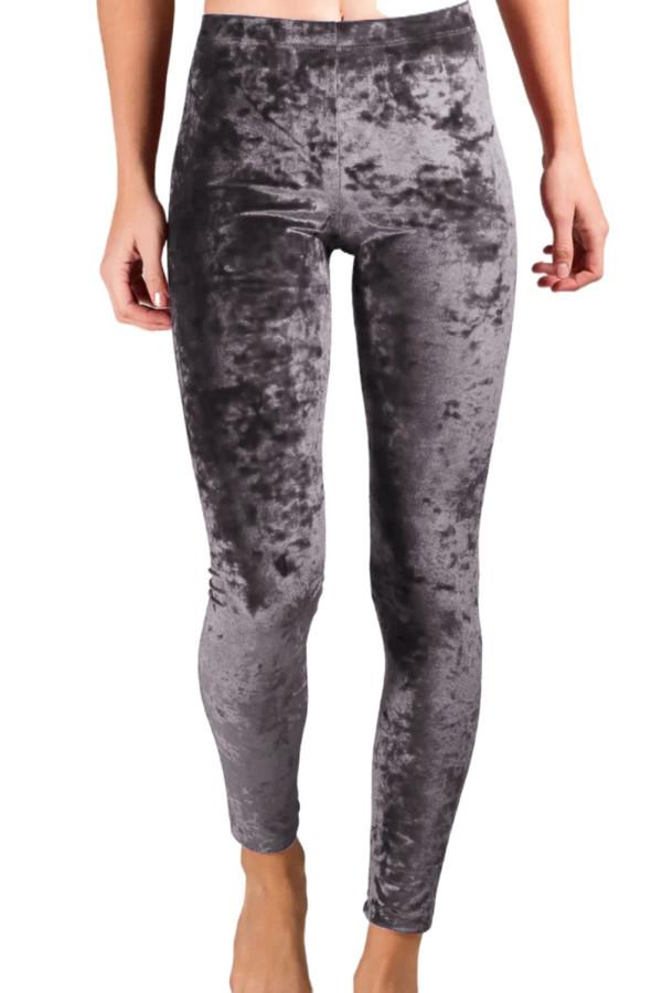 Gray Velvet High Rise Leggings LC76443-11