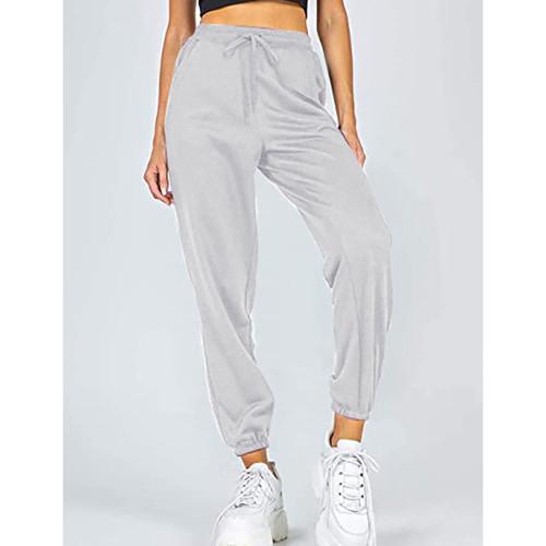 Light Gray Loose Sports Running Pants TQK530035-25
