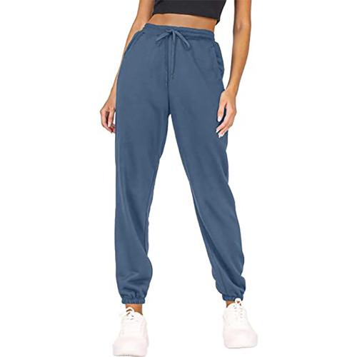 Blue Loose Sports Running Pants TQK530035-5