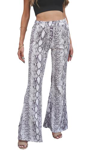 Snakeskin Print Wide Legs Pants LC772370-1