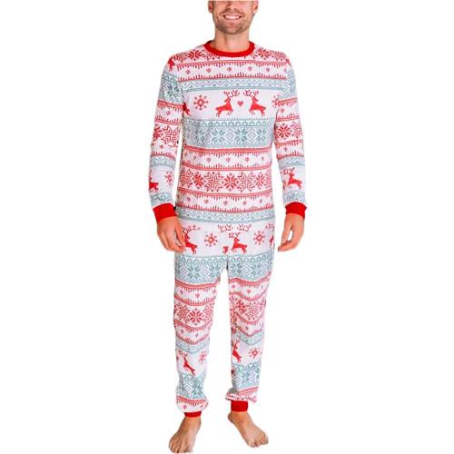 Light Green Contrast Red Christmas Dad Loungewear TQK720419-28
