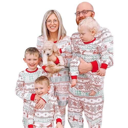 Light Green Contrast Red Christmas Baby Loungewear TQK740419-28