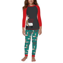 Christmas Llama Print Kids Loungewear TQK730416-6
