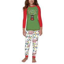 Christmas LIGHTS OUT Elk Print Kids Loungewear TQK730416-9