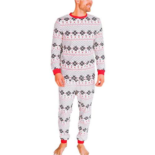 Contrast Black Christmas Dad Loungewear TQK720418-2