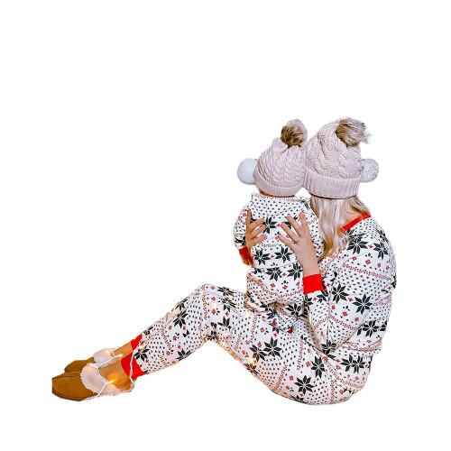 Contrast Black Christmas Baby Loungewear TQK740418-2