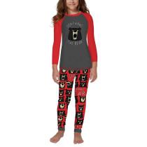 Christmas DONT WAKE THE BEAR Print Kids Loungewear TQK730416-10