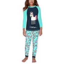 Christmas Unicorn Rainbow Print Kids Loungewear TQK730416-11