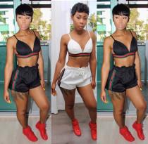 Sexy Club Women Suits Bra Top Elastic Shorts YS102