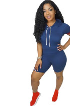 Factory Price Leisure Short Sleeves Jumpsuit For Daily Wear MDO9011