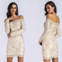 Women Embroidery Strapless Bodycon Dress YYM21778