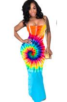 Radiused Graphic Cami Long Dress YT3201