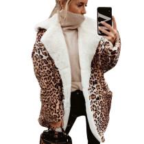 Leopard Print Double Layer Teddy Coat SN3739
