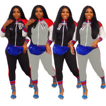 Euramerican Bodycon Printing Autumn Track Suits JH062