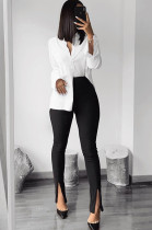 Pink Skinny Mid-rise Bell-bottom Pants HG5320
