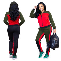 Patchwork Casual Running Sports Outfits SMR9071