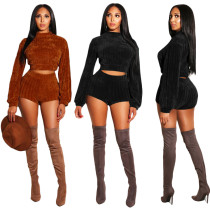 Trendy Bodycon Sweater Short Suits For Sale SN3462