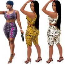 Crop Tank Midi Shorts Sports Sets Women CM530