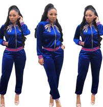 Fashion Blue Comfortable Sports Outfits QZ4529