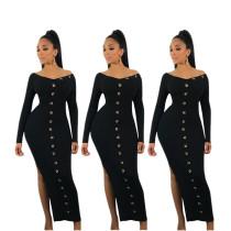 Unique Bodycon Split Long Dress For Women YYZ919