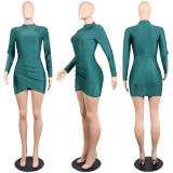 Sexy Solid Bodycon Mini Club Dress K8667