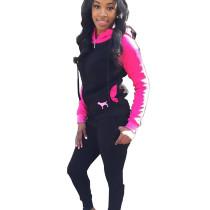 Thicken Hoodie Slinky Pants Female Sets Warm Leisurewear T3295