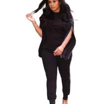 Black Fashion Zipper Outdoor Unique Hiking Sets For Women JH126