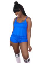 Blue Slip Top & Short Pants Set SDD9227