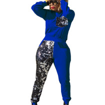 Fashionable Sequined Splicing Winter Gym Outfits For Women QQM3903