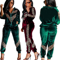 Two Pices Leopard Print Sports Sets SY8308