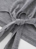 Pure Color Autumn Suits Strapless Crop Top Pencil Pants OFN6143