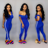 Solid Skinny Tank Jumpsuits Sports Suits SN3636