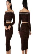 Latest Suits Dew Shoulder Crop Top Bodycon Midi Skirt MDO8029