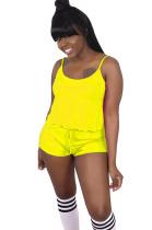 Yellow Slip Top & Short Pants Set SDD9227