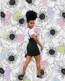 Black Knot Strap Side Split Mini Dress HHM6128