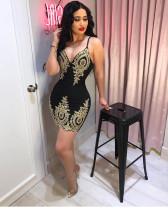 Sexy Strapy Club Bodycon Mini Dress W8152