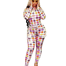 Winter Leisure Digital Printing Bodycon Jumpsuit For Wholesale ALS155