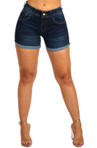 Roll-up Low Waist Denim Shorts JLX5033