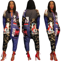 Street Wear Print Wide Leg Jumpsuits SY8310